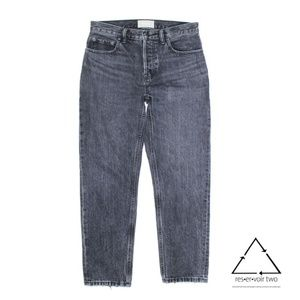 Everlane High Waist Straight Ankle Button Fly Jean